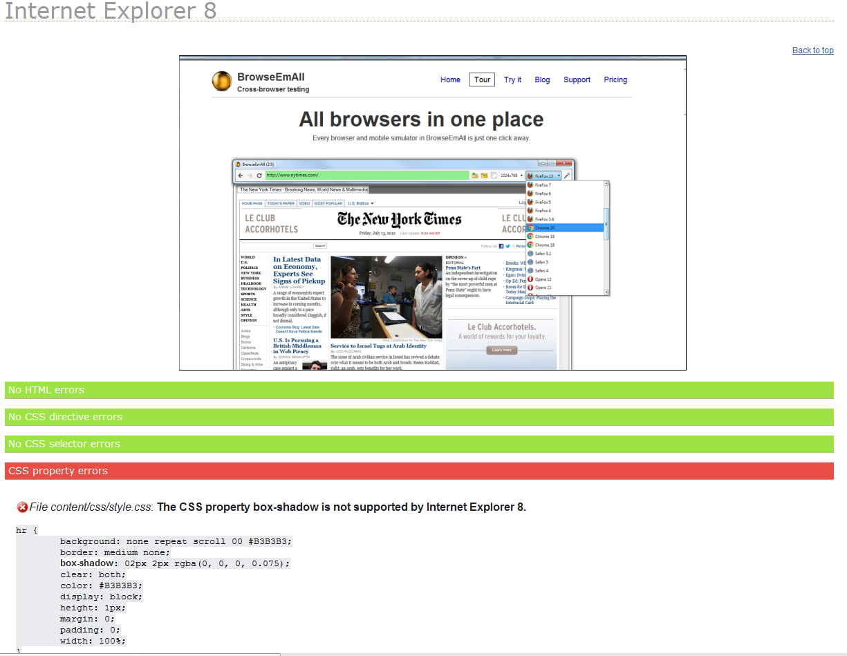 Cross-browser test your website in 10 minutes or less – BrowseEmAll